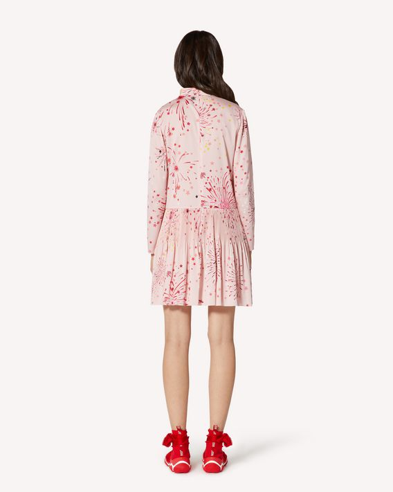 REDValentino 特别胶囊系列 烟花印纹双绉褶裥连衣裙