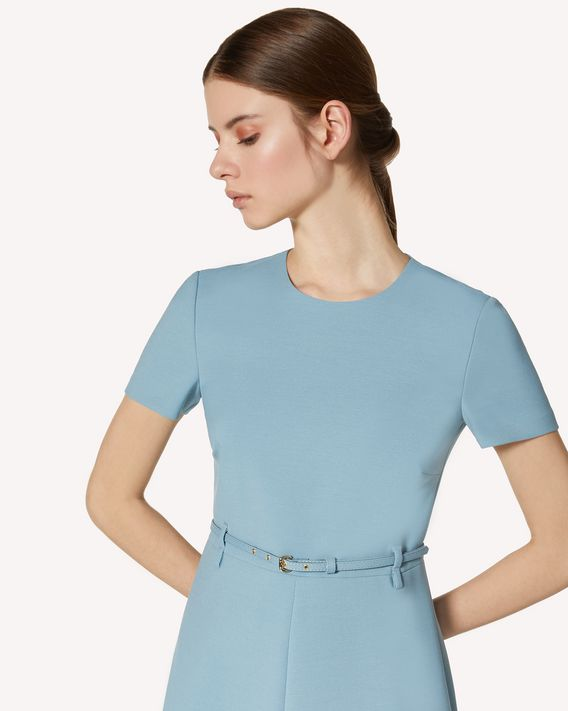REDValentino 腰带款科技卡迪连衣裙