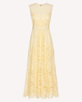 REDValentino 镂空刺绣细点网眼薄纱连衣裙