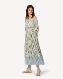 REDValentino Balze Floreali 印纹平纹细布连衣裙