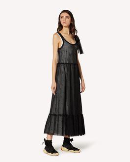 REDValentino 细点网眼图案网面平纹针织连衣裙