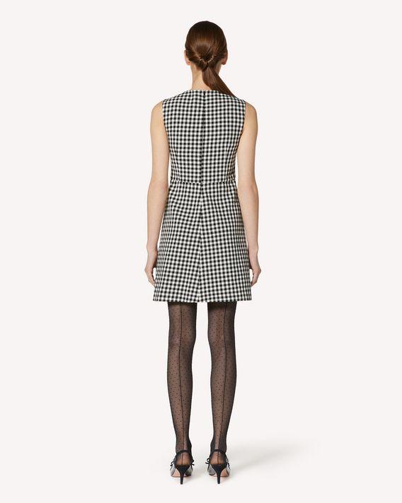 REDValentino 蝴蝶结细节 Vichy 格纹连衣裙