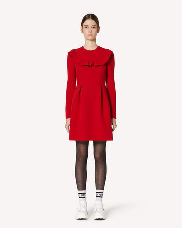 REDValentino 褶饰细节弹力双面绉绸连衣裙
