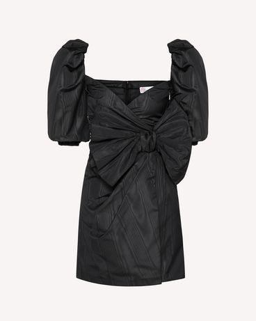 REDValentino 蝴蝶结细节罗缎云纹绸连衣裙