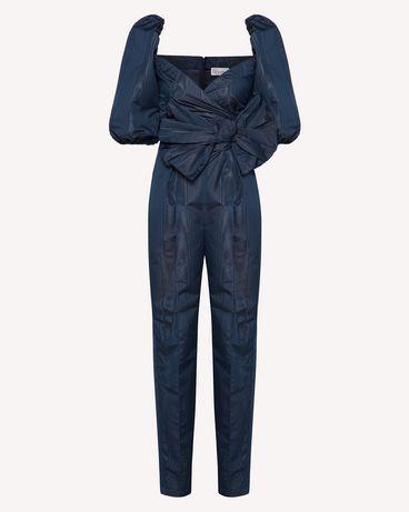 REDValentino 蝴蝶结细节罗缎云纹绸连身装