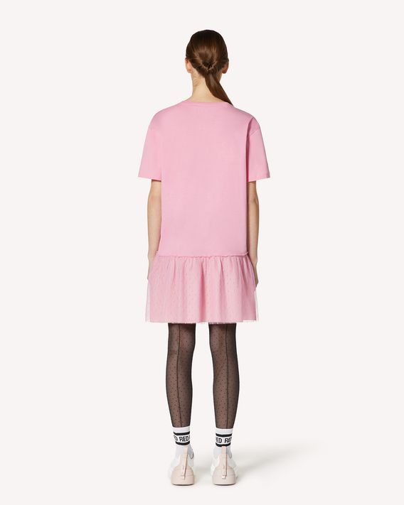 REDValentino Extremely Pink 印纹 T 恤连衣裙