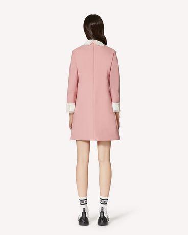 REDValentino 领部细节科技卡迪连衣裙