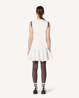 REDValentino 扇形细节缎背绉绸连衣裙