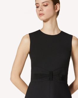 REDValentino 礼服蝴蝶结细节科技卡迪连衣裙