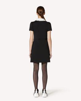 REDValentino 领部细节平纹针织拉链连衣裙
