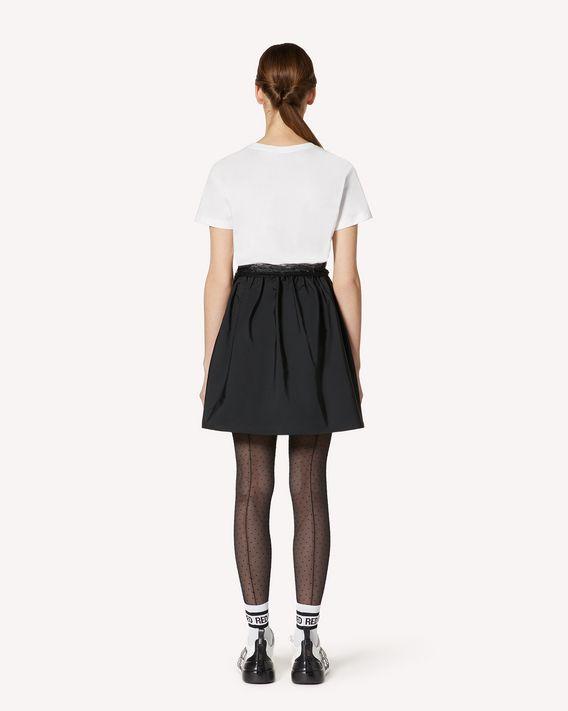 REDValentino 细点网眼薄纱装饰 T 恤连衣裙