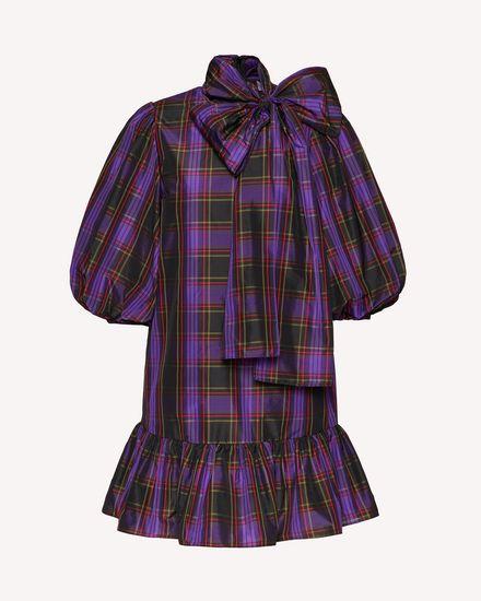 塔夫绸格纹连衣裙
