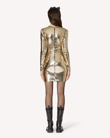 REDValentino 亮片平纹针织连衣裙
