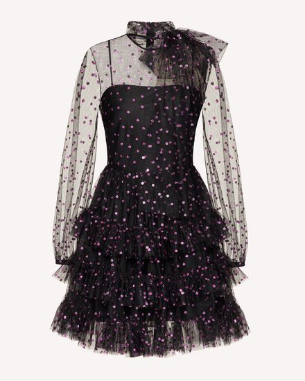 REDValentino 短款连衣裙 女士 UR0VAV055D8 60K a
