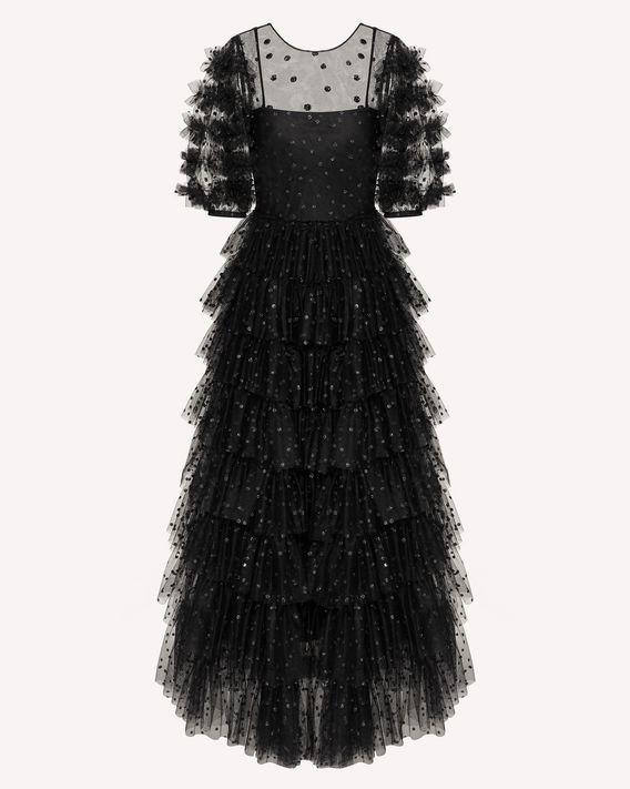 REDValentino 闪片波点薄纱连衣裙