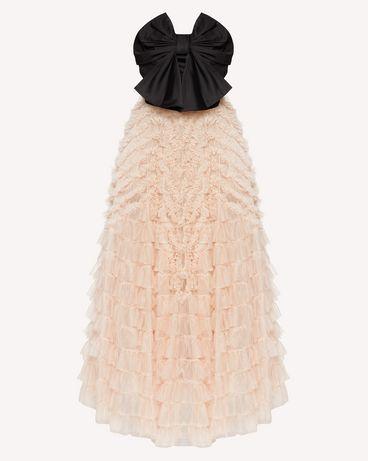 REDValentino 特别款蝴蝶结薄纱与塔夫绸连衣裙