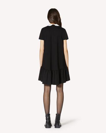 REDValentino 玫瑰刺绣针织连衣裙