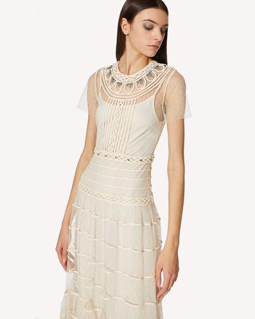 REDValentino 专属连衣裙 - 管饰连衣裙配水钻细节