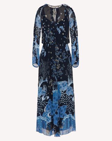 REDValentino  Asian Toile de Jouy 印纹真丝连衣裙