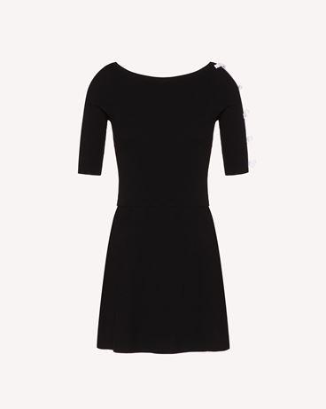 REDValentino 蝴蝶结细节弹力粘胶纤维针织连衣裙