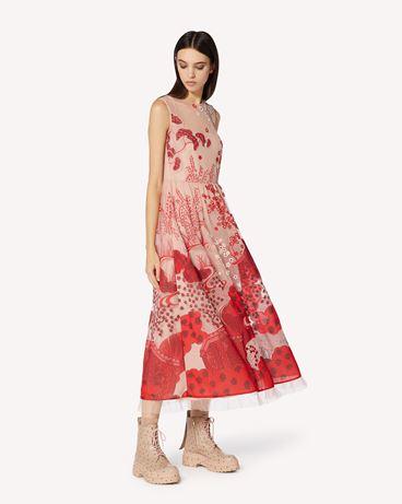 REDValentino  Asian Toile de Jouy 刺绣细点网眼薄纱连衣裙