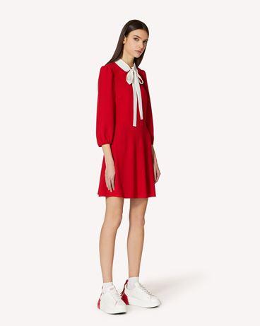 REDValentino 专属胶囊系列 - 修身、喇叭型垂顺衣领连衣裙