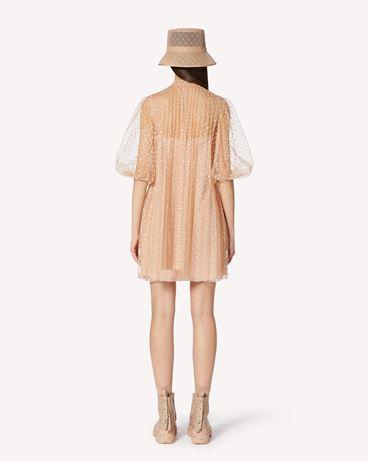 REDValentino 闪片波点褶饰连衣裙