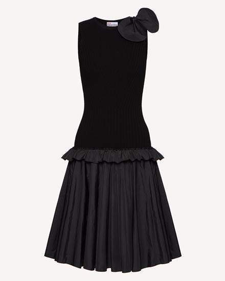 弹力粘胶纤维和塔夫绸连衣裙