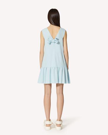 REDValentino 蝴蝶结细节缎背绉连衣裙