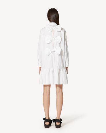 REDValentino 蝴蝶结细节棉质府绸连衣裙
