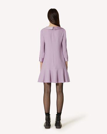 REDValentino 缎背绉绸领饰连衣裙