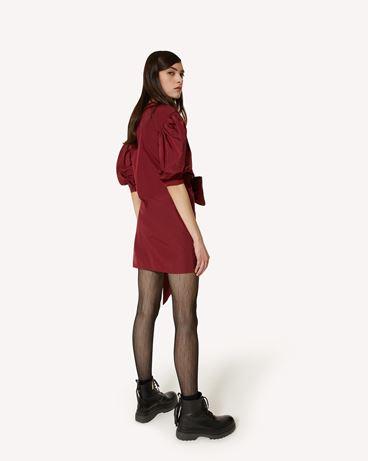 REDValentino The Black Tag。<br>- 塔夫绸裹身式连衣裙