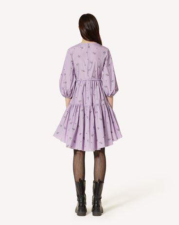 REDValentino 花束图案塔夫绸连衣裙
