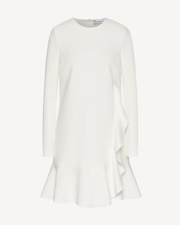 REDValentino 荷叶边细节科技卡迪面料连衣裙