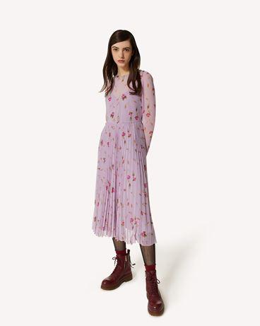 REDValentino Sweet Roses 印纹细棉布连衣裙
