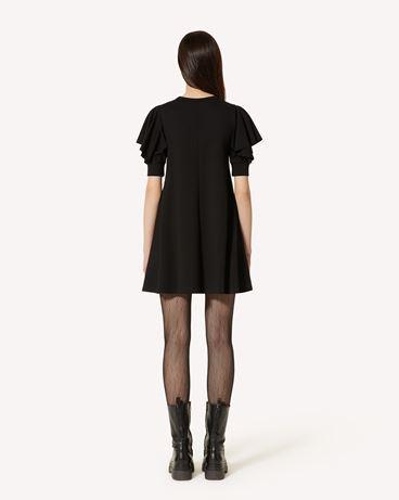 REDValentino 褶饰细节针织连衣裙