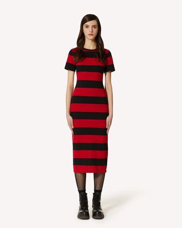 REDValentino REDValentino ®  印花平纹针织条纹连衣裙