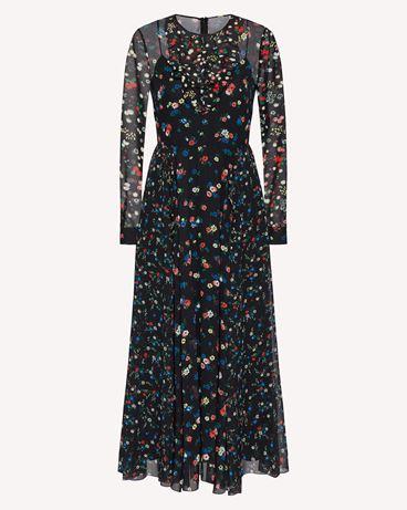 REDValentino Delicate Flowers 印纹细棉布连衣裙