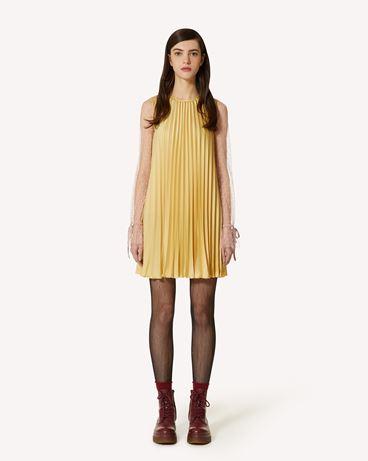 REDValentino 褶饰垂顺缎面连衣裙