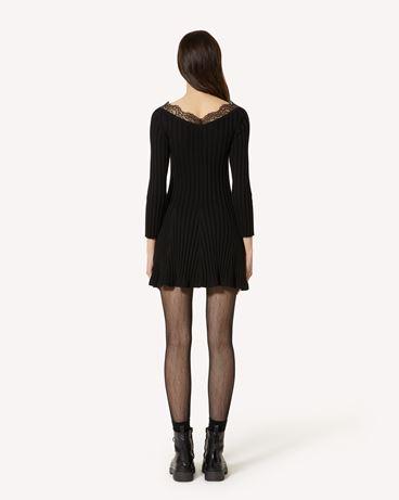 REDValentino 蕾丝羊毛针织连衣裙