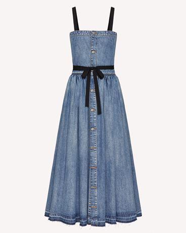 REDValentino 牛仔衬衫式连衣裙