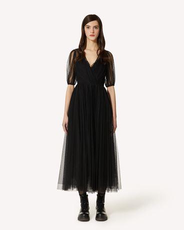 REDValentino 植绒波点薄纱连衣裙