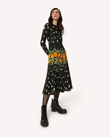 REDValentino Flower Explosion 印纹棉质连衣裙