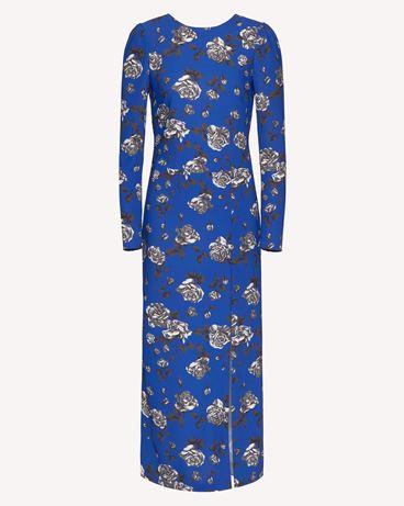 REDValentino Rose 印纹卡迪连衣裙