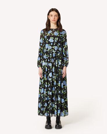 REDValentino Rose 印纹雪纺连衣裙