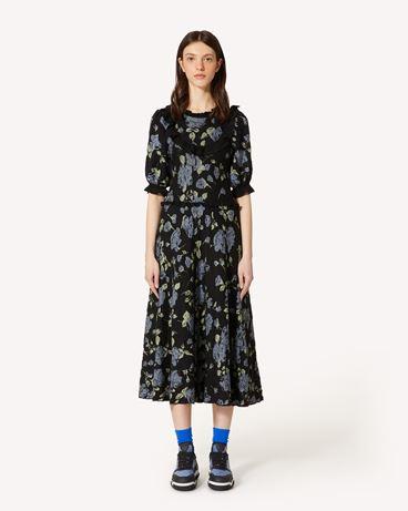 REDValentino Rose 提花马海毛混纺针织连衣裙
