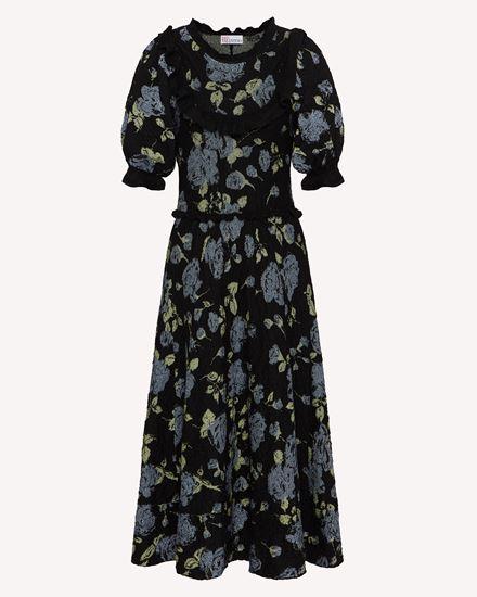 Rose 提花马海毛混纺针织连衣裙