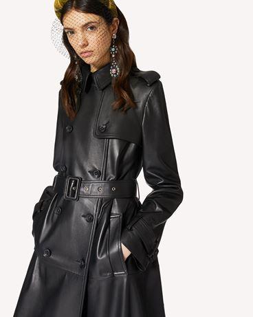 REDValentino 褶裥皮革 Trench 风衣