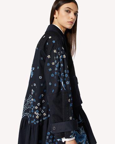 REDValentino  Asian Toile de Jouy 刺绣卡班大衣