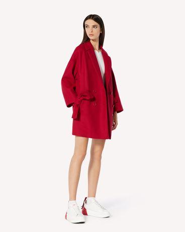 REDValentino 蝴蝶结细节羊毛羊绒混纺阔型风衣